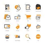 Пакет значка электронной коммерции Стоковая Фотография