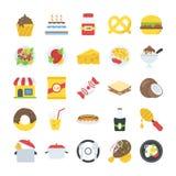 Пакет значков еды и пить Стоковая Фотография RF