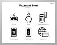 Пакет значков оплаты твердый бесплатная иллюстрация
