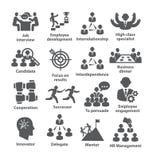 Пакет 33 значков руководства бизнесом иллюстрация штока