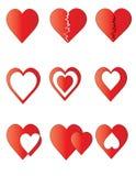 Пакет диаграмм сердец. иллюстрация вектора