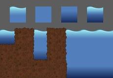 Пакет игры воды плиток Стоковое фото RF