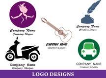Пакет 2 дизайна логотипа Стоковое Фото