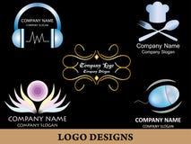 Пакет 3 дизайна логотипа Стоковые Фото