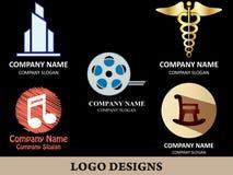 Пакет 4 дизайна логотипа Стоковое фото RF