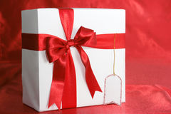 пакет имени подарка пустой карточки Стоковые Фото