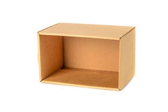 Пакет картонной коробки Брайна, изолированный на белой предпосылке Стоковая Фотография RF
