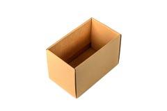 Пакет картонной коробки Брайна, изолированный на белой предпосылке Стоковое фото RF