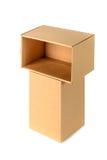 Пакет картонной коробки Брайна при крышка, изолированная на белом backgr Стоковое фото RF
