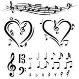 Пакет музыки значка установленный большой Стоковое Изображение