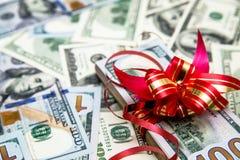 Пакет лож валюта США Стоковая Фотография