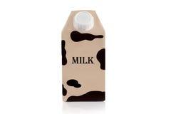 Пакет долгосрочного хранения с молоком надписи Стоковое фото RF