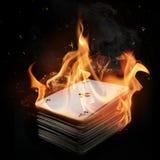 пакет пожара карточек стоковые фотографии rf