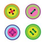 Пакет покрашенных кнопок иллюстрация вектора