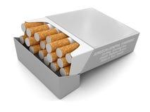 Пакет сигареты (включенный путь клиппирования) Иллюстрация вектора