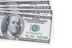 пакет США долларов предпосылки белый Стоковые Фотографии RF