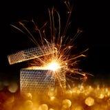 Пакет сюрприза рождества стоковое изображение rf