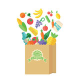 Пакет с едой и питьем Стоковое Изображение