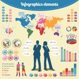 Элементы Infographics Стоковые Изображения RF