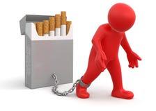 Пакет человека и сигареты (включенный путь клиппирования) Иллюстрация вектора