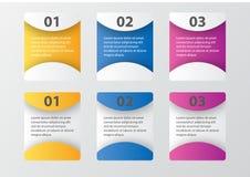 Пакет шаблона Infographic установленный для представлений дела Стоковая Фотография RF