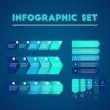 Пакет шаблона Infographic установленный для представлений дела Стоковая Фотография