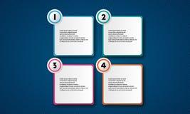 Пакет шаблона Infographic установленный для представлений дела Стоковые Фотографии RF