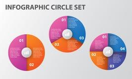 Пакет шаблона Infographic установленный для представлений дела Стоковое Фото