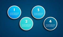 Пакет шаблона Infographic установленный для представлений дела Стоковое фото RF