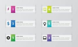 Пакет шаблона Infographic установленный для представлений дела Стоковые Фото