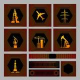 пакет 7 икон bagrounds Стоковые Фотографии RF