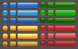 Пакет GUI кнопок игры Стоковые Фото