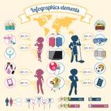 Равность элементов Infographics, возмездность и делает Стоковая Фотография