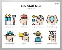 Пакет LineColor значков навыка жизни иллюстрация штока