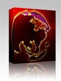 пакет pacific глобуса коробки Азии бесплатная иллюстрация