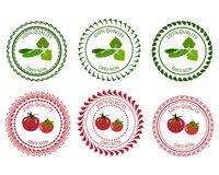 Паковать овощей элемента дизайна логотипа Стоковые Изображения RF