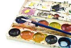 пакостная акварель красок Стоковое Изображение RF