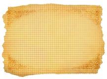 пакостная бумага придала квадратную форму белизне Стоковая Фотография RF