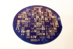 Пакостная вафля silicium, покрытая с отпечатками пальцев Стоковые Фотографии RF
