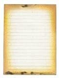 пакостная выровнянная бумага Стоковая Фотография