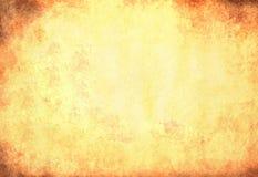 Пакостная желтая бумажная текстура Стоковая Фотография RF