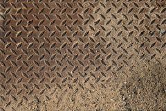 Пакостная железная плита Стоковое фото RF