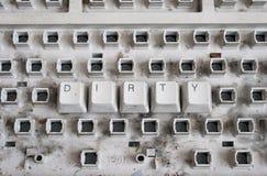 пакостная клавиатура Стоковые Изображения