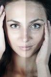 пакостная кожа I чисто стоковые изображения rf