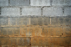 Пакостная конкретная кирпичная стена Стоковое фото RF