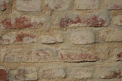 Пакостная красная кирпичная стена Стоковое Изображение