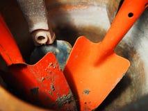 Пакостная красная пачка лопаткоулавливателя, конец вверх Стоковые Изображения RF
