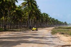 Пакостная дорога в Maracaipe - Pernambuco, Бразилии Стоковые Изображения