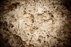 Пакостная, поцарапанная старая стена coquina Стоковое фото RF