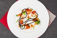 Пакостная плита после еды Стоковые Фотографии RF